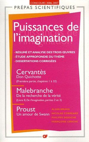Les puissances de l'imagination : Cervants, Malebranche, Proust