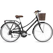 Kingston Primrose - Bicicleta híbrida para mujer, talla M (164 - 172 cm), color negro