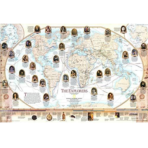 MAIYOUWENG Die Entdecker Karte Maßgeschneiderte Puzzle 1000 Stücke Erwachsene Holzpuzzle Persönlichkeit Kinder Jugendliche Bildung Puzzle Spielzeug (Puzzles Und Drachen-geschenk-karte)