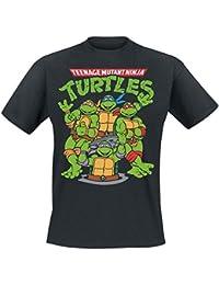 Teenage Mutant Ninja Turtles Group T-Shirt schwarz