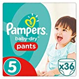 Pampers - Baby Dry Pants - Couches-culottes Taille 5 (12-17 kg) - Pack Géant (x36 culottes)
