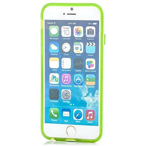 Saxonia iPhone 6 / 6S Hülle Case Ultra Slim Cover Silikon Schutzhülle Handy Backcover Bumper Blau Grün