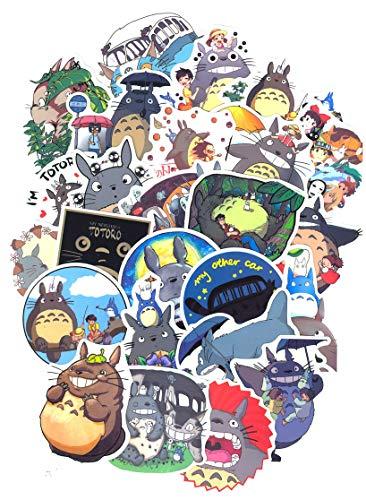 ⭐Top Aufkleber! ⭐ Set von 50 Mein Nachbar Totoro Aufkleber Premium Qualität - Vinyls Stickers Nicht Vulgär – My Neighbour Totoro - Anpassung Laptop, Gepäck, Motorrad, Fahrrad, Skateboard