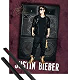 1art1® Poster + Suspension : Justin Bieber Mini Poster (50x40 cm) All Around The World, Autographe Et Kit De Fixation Noir