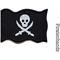 Applikation Piratenflagge Totenkopf Patch zum aufbügeln