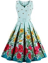 Dissa M1371 DamenRockabilly 50er Vintage Retro Kleid Partykleider Cocktailkleider