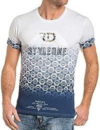 BLZ jeans - Tshirt homme blanc imprimé relief