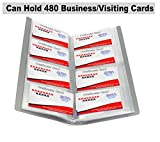 #8: JEF Business Card Holder, Debit/Credit/Bussiness/Visiting Name Id Card Holder Book Cash Organizer File - 480 pocket. (GREY)