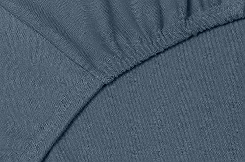 Double Jersey - Spannbettlaken 100% Baumwolle Jersey-Stretch bettlaken, Ultra Weich und Bügelfrei mit bis zu 30cm Stehghöhe, 160x200x30 Anthrazit - 5