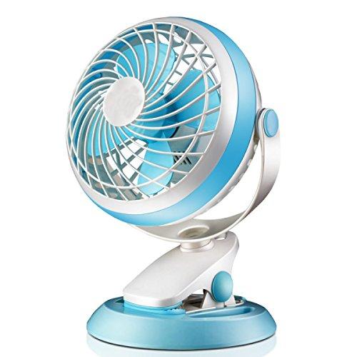 Ordner-fan (USB Mini 7 Zoll Büro Schlafsaal Desktop Ordner Fan,Blue)