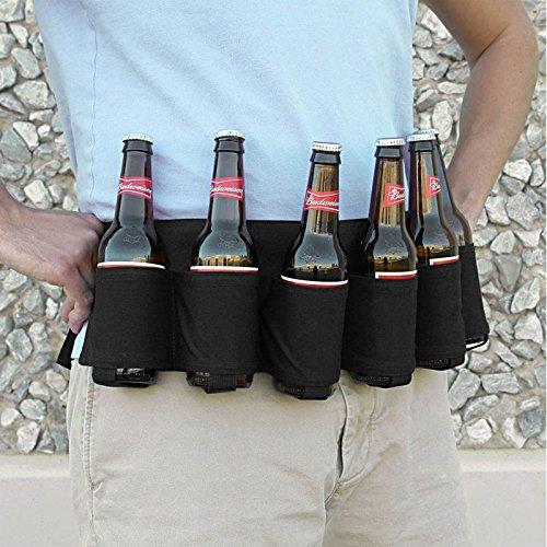 Hrph Neuheit Sport Reisen Klettern Bier Gürtel tragen Getränke Tasche Gürtel Bergsteigen Taillen-Beutel für Geschenk & Parties Trinken (Tasche Neuheit)