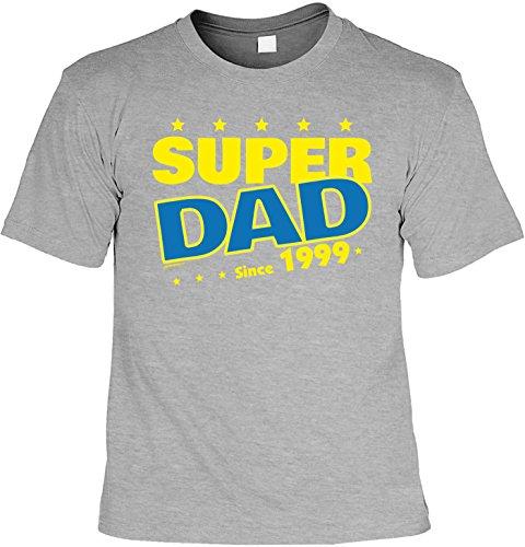 tolles T-Shirt zum 18. Geburtstag Super Dad since 1999 Geschenk zum 18 Geburtstag 18 Jahre Geburtstagsgeschenk 18-jähriger Dunkelgrau