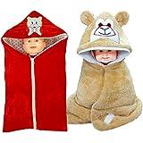 Brandonn Newborn 3 In 1 Wrapper , Safety Bag Cum Sleeping Bag Cum Baby Blanket For Babies (Pack Of 2)