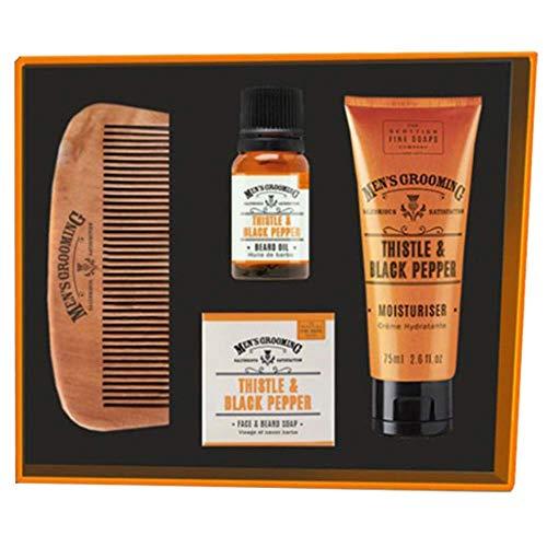 SCOTTISH FINE SOAPS Chardon et Poivre noir visage et barbe Kit d'entretien