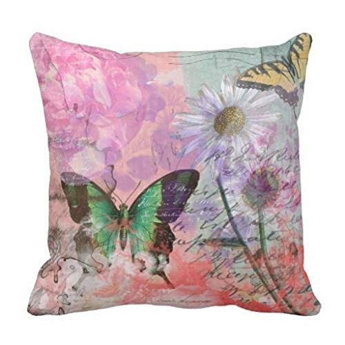 damuyas Französischer Vintage Schmetterling Kissenbezüge Kissenbezug Decor Überwurf, baumwolle, 2#, Size: 42*42cm/16.53*16.53 (Dekorieren Sie Einen Kissenbezug)
