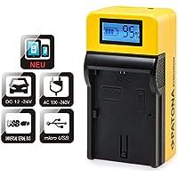 PATONA chargeur Top Écran LCD pour batterie SONY NP-FW50avec micro USB Entrée et sortie USB, pour recharger en parallèle un périphérique tiers (Smartphone, etc.)