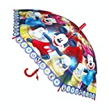 #10: Umbrella for Kids Micky Minni Mouse Print ( Multicolor )