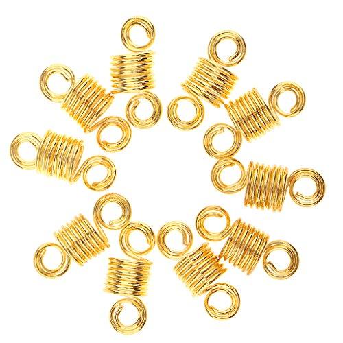 Perlen Metallperle Braids Deko Perlen Haarschmuck Flechten Haarperlen 10er-Set - Gold ()