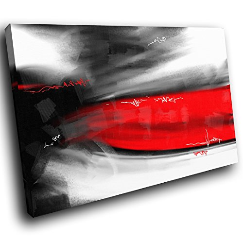 AB613A Gerahmte Leinwanddruck Bunte Wand Kunst   Rot Grau Schwarz Cool    Modernes Abstraktes Wohnzimmer