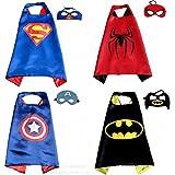 Dollshow 4 Different Super Hero Comics Capes And Masks Set For Kids