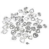 Souarts 1 Set Antik Silber Farbe Herz Schmuckzubehör Basteln Charms Anhänger Für Halskette Armband 30St