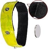 LED-Armband Beinband für Fahrradfahrer | Sicher im Dunkeln Rad fahren | Unfall Vorbeugung und Schutz beim Radfahren | Sicherheit Sicherheitslicht Reflektorband | blinkend oder leuchtend | Movoja®