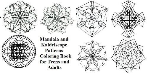 Mandala E Modelli Caleidoscopio Libro Da Colorare Per Adulti E