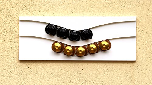 Dispensador de cápsulas nespresso, 20 cápsulas (blanco)