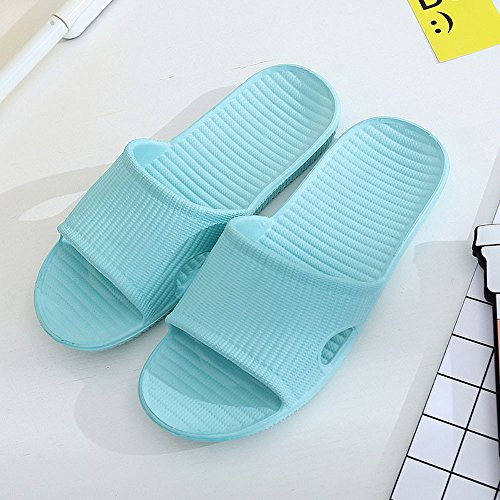 DIKEWANG Unisex Women/Men Stripe Flat Non-Slip Bath Slippers Bathroom Water  Shoes Shower Sandals Summer Soft Foams Sole Pool Shoes Sandals Indoor &  Outdoor ...
