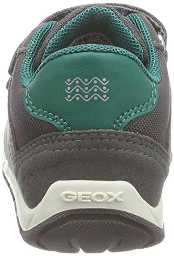 Geox B SHAAX Baby Jungen Lauflernschuhe Grau (C0655DK GREY/GREEN)