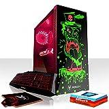 Fierce Gobbler RGB Gaming PC Bundeln: 6 x 4.5GHz 6-Core Intel Core i7 8700K, All-In-One Flüssigkühler, 240GB SSD, 1TB HDD, 8GB 2666MHz, GTX 1060 3GB, Windows 10, Tastatur Maus (VK/QWERTY) 856330