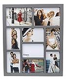 Hampton Frames gal9apgy Gallery Grigio Wood 9Multi Apertura (Sette 4x 6in/A6(10x 15cm) e Due 5x 7(13x 18cm)) Splendida Cornice Multi Aperture Solo da Appendere