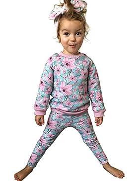 CHIC-CHIC Baby Tops Mädchen Pullover langarm Shirt Sweatshirt Basic Hose Oberkleidung Kleinkind Kinder Mädchen...