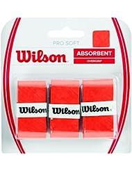 Wilson Pro Soft Overgrip Empuñadura, 3 unidades, unisex, naranja