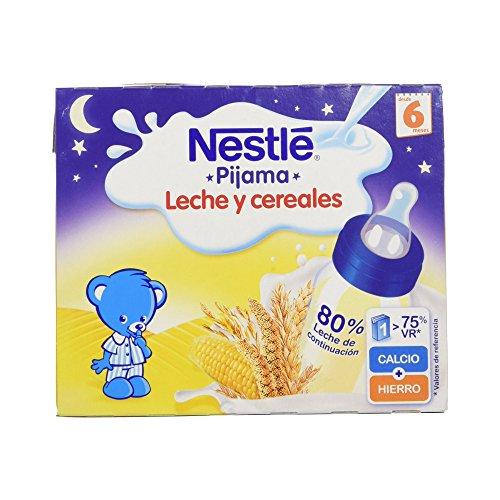 NESTLÉ Leche y Cereales Pijama - Paquete de 6 x 2 unidades de 250 ml