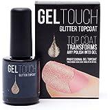 geltouch Gel Topcoat (transparente, dorado/plateado/bronce purpurina 8ml) en un Transforma Cualquier esmalte de uñas gel Manicura-Home