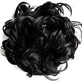 PRETTYSHOP XXXL Hairpiece Hair Wrap Scrunchie Scrunchy Updos, VOLUMINOUS, Curly Messy Bun, Different Colors Available