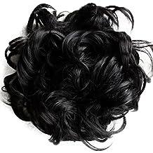 PRETTYSHOP XXL Postiche Cheveux En Caoutchouc Chouchou Scrunchy Chignons VOLUMINEUX Bouclés Ou Chignon Décoiffé Différentes Couleurs HW6