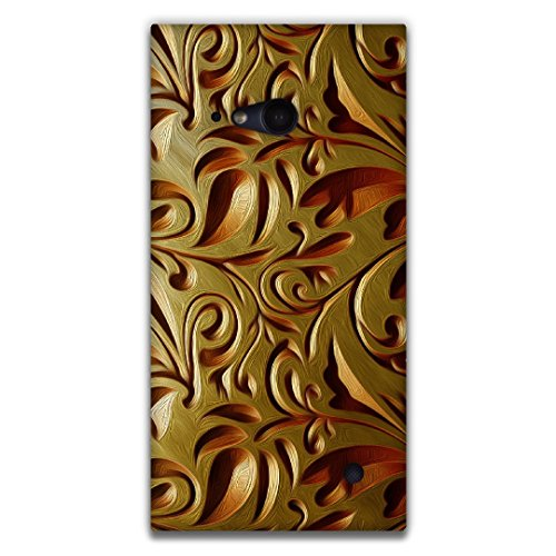 The Racoon Lean printed designer hard back mobile phone case cover for Nokia Lumia 730. (Gold Weave)  available at amazon for Rs.99