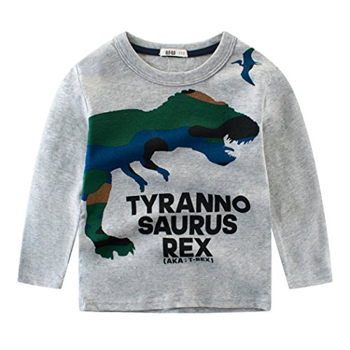 Tkria Little Boys Jumpers Kids Dinosaur Sweaters Sweatshirt Pullover Clothing Shirts Casual Tops Cotton Tee Age 1 2 3 4 5 6 7 8 9