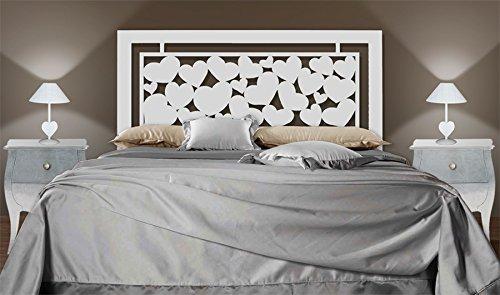DECORACIÓN BELTRÁN Kopfstück aus Eisen für Betten : Modell HERZEN