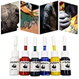 6pcs/set professionnel multi couleur de tatouage d'encre de tatouage Set Kits 5ml bouteilles