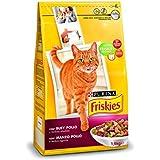 Friskies Alimento para Gato, Seco Adulto Con Buey, Pollo Y Verduras Añadidas - 1,5 Kg
