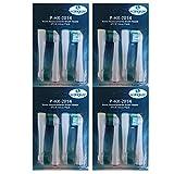 Kongkay Lote de 16 cabezales de recambio para cepillo de dientes, genérico compatible con Philips HX2014 Sonicare Sensiflex. (4Pack X 4Pcs)