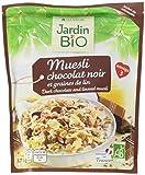 Jardin Bio Muesli Chocolat Noir/Graines de Lin 375 g - Lot de 3