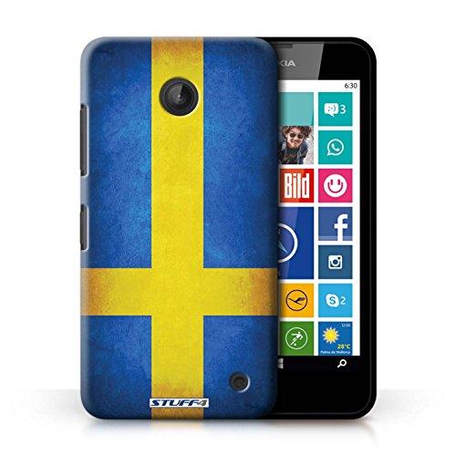 Coque en plastique pour Nokia Lumia 635 Collection Drapeau - Mecico/Mecican Suède/suèdois