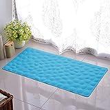 LSQ Badezimmer-Duschmatte-Kiesel-Gummimatten Badezimmer-Bad-Matten Badewannen-Matten Weich und Bequem,Blue,40 * 80Cm
