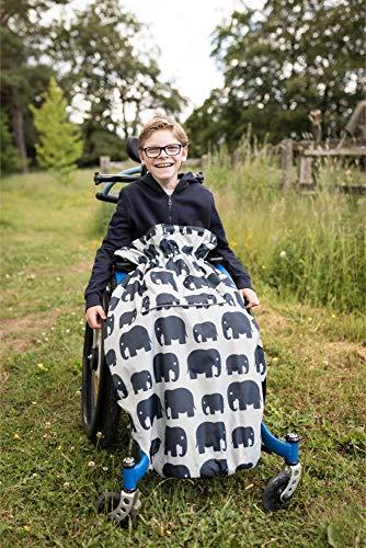 Rollstühle & Reha-Buggys - einteilig - Grau mit Elefanten ()