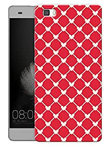 """Humor Gang Connected Hearts Red Printed Designer Mobile Back Cover For """"Huawei P8"""" (3D, Matte Finish, Premium Quality, Protective Snap On Slim Hard Phone Case, Multi Color)"""