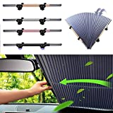 CULASIGN 1 Packung Automatische einziehbare Sonnenschutz fürs Auto Vorhang, Sonnenschutz Magnetisch für UV-Schutz, Hitzeschutz (70 cm breit)